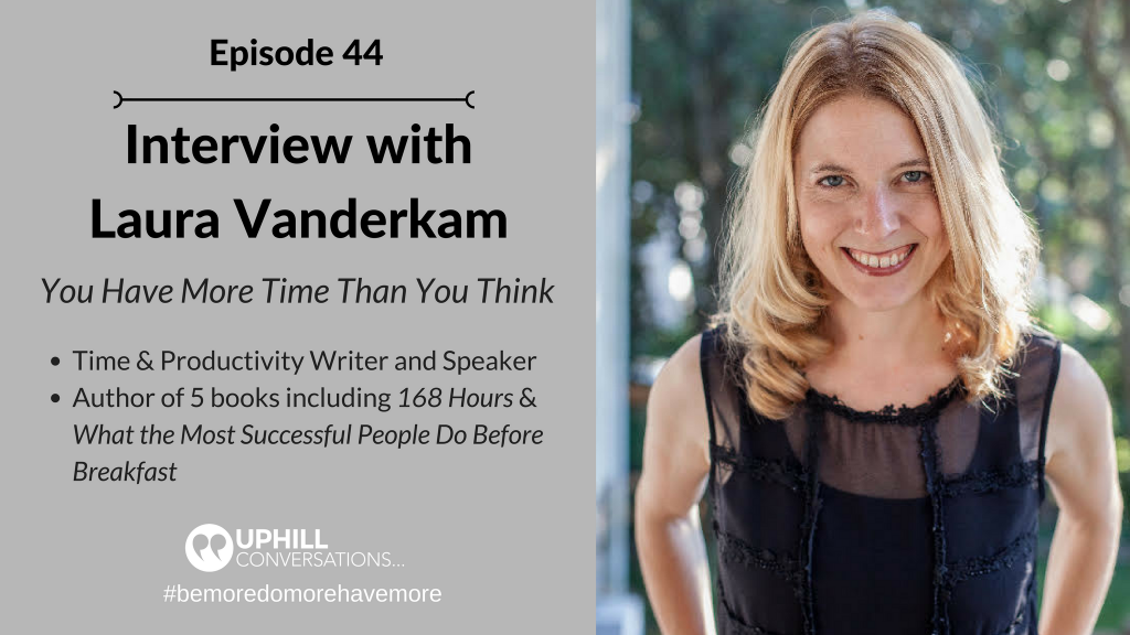 Interview with Laura Vanderkam
